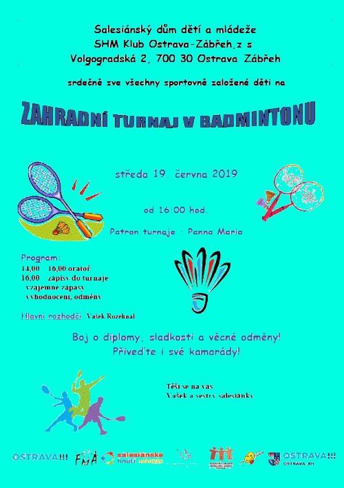 Zahradní turnaj v badmintonu